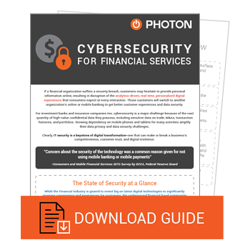 Finance whitepaper on Cybersecurity by Photon